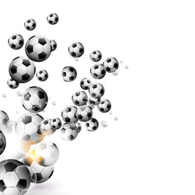 Väggdekor fotboll boll isolerad på en vit bakgrund
