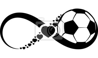 Väggdekor Fotboll eller fotboll Kärlek Infinity