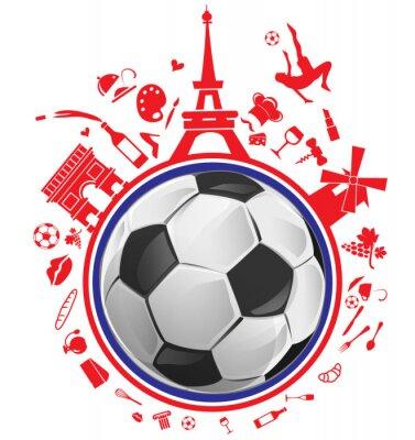Väggdekor fotboll med Frankrike symbol