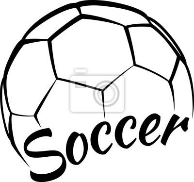 Väggdekor Fotboll med rolig text