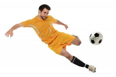 Väggdekor Fotbollsspelare i aktion