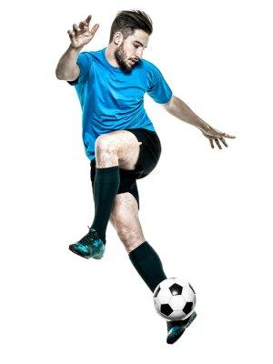 Väggdekor Fotbollsspelare Man Isolerad