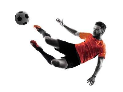 Väggdekor Fotbollsspelare Man Isolerad silhuett