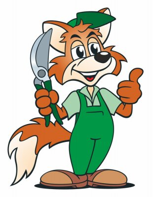 Väggdekor Fox Gardener