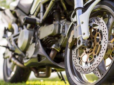 Väggdekor Framhjuls information om en motorcykel