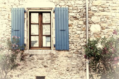 Väggdekor Franska Fönster