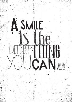 Väggdekor Frasen är ett leende prettilest sak du kan bära