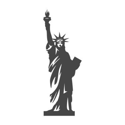 Väggdekor Frihetsgudinnan ikon - Illustration