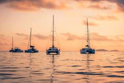 Väggdekor Fritids Yachter på Indiska oceanen
