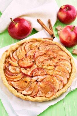 Väggdekor Frukt äppelpaj på bakplåtspapper