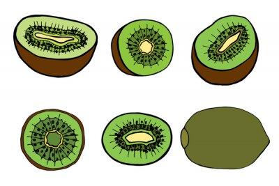 Väggdekor frukt kiwi
