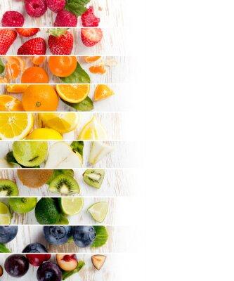 Väggdekor Frukt Mix Stripes