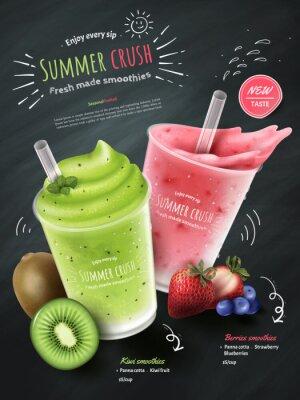 Väggdekor Frukt smoothies annonser