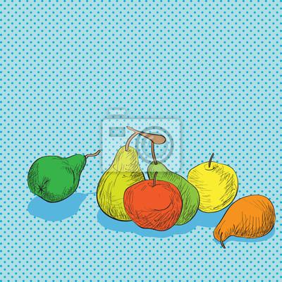 Väggdekor frukter komposition