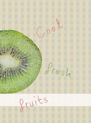 Väggdekor Frukter tema bakgrund