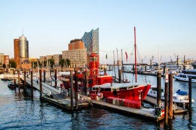 Väggdekor Fyrskepp och HafenCity