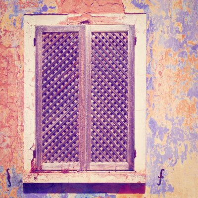 Väggdekor gamla fasaden