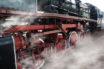 Väggdekor Gamla lokomotivhjul