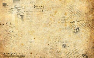 Väggdekor Gamla tidningar bakgrund