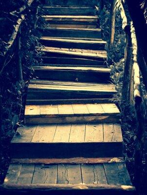 Väggdekor Gamla trätrappor