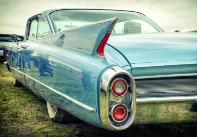 Väggdekor Gammal amerikansk bil i vintagestil