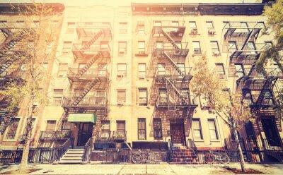 Väggdekor Gammal film retrostil bild av New York Street, USA.
