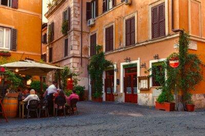 Väggdekor Gammal gata i Trastevere i Rom, Italien