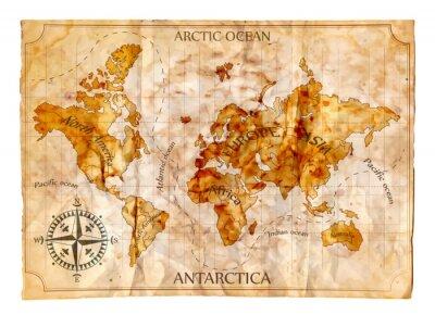 Väggdekor gammal karta