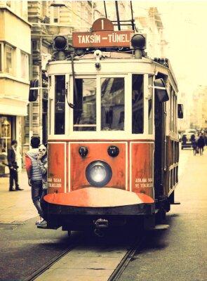 Väggdekor Gammal spårväg på Istiklal street, Istanbul.