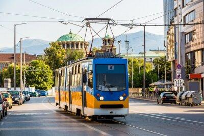Väggdekor Gammal spårvagn i Sofia, Bulgarien