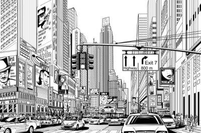 Väggdekor gata i New York City