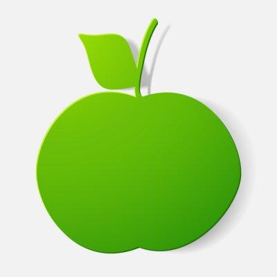 Väggdekor Gem klistermärke: frukt, äpple