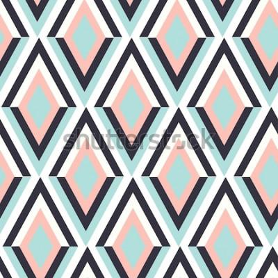Väggdekor geometri zig zag vektormönster. etnisk sömlös prydnad. Abstrakt bakgrund - färgglada linjer. Vektorillustration.