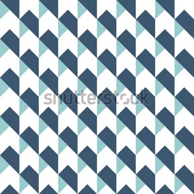 Väggdekor Geometrisk abstrakt sömlös bakgrund, geometrisk bakgrund, pilar mönster, chevron mönster