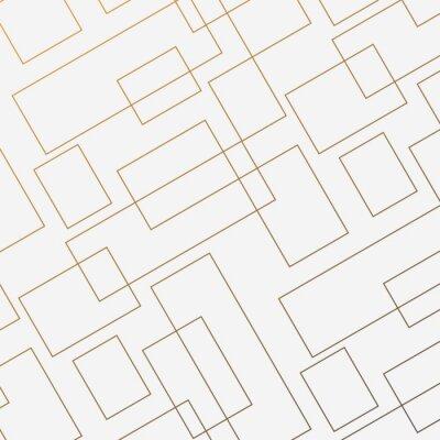 Väggdekor Geometrisk vektormönster, upprepande tunn linjär kvadratisk diamantform och rektangel. Ren design för tyg tapeter målade. Mönstret är på provpaneler