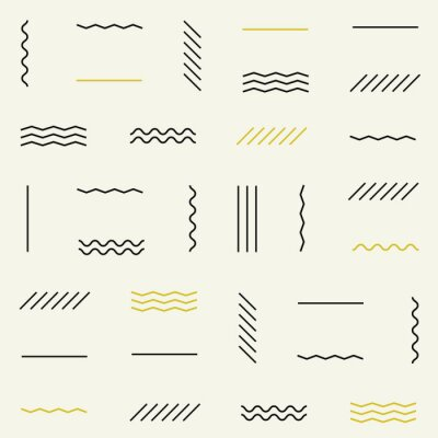 Väggdekor Geometriska linjer seamless.