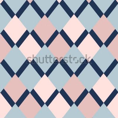 Väggdekor geometriska mönster av rhombuses. geometriska mönster. etnisk sömlös prydnad. Abstrakt bakgrund - färgglada linjer. Vektorillustration.