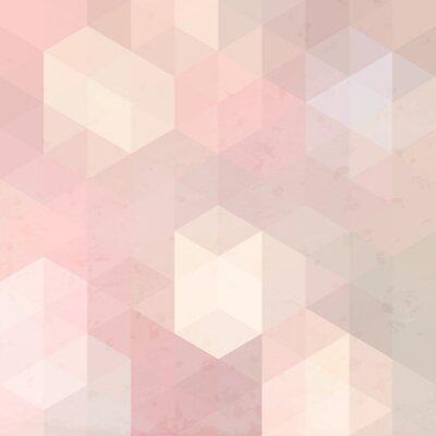 Väggdekor Geometriska retro bakgrund med grunge konsistens