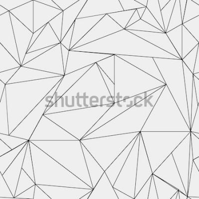 Väggdekor Geometriskt enkelt svartvitt minimalistiskt mönster, trianglar eller målat glasfönster. Kan användas som tapeter, bakgrund eller textur.