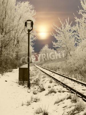 Väggdekor givna järnväg