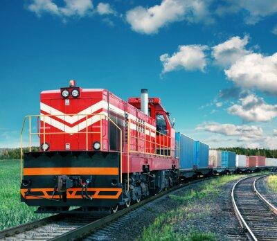 Väggdekor godståg