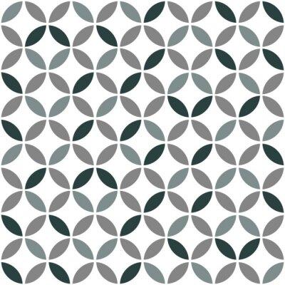 Väggdekor Grå geometriska Retro sömlösa mönster