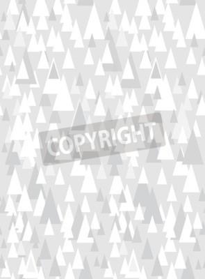 Väggdekor Grå sömlösa mönster med dekorativa trianglar och kopia utrymme