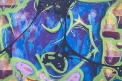 Väggdekor graffiti abstrait