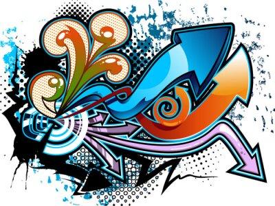 Väggdekor graffiti bakgrund