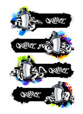 Väggdekor Graffiti banderoller Set