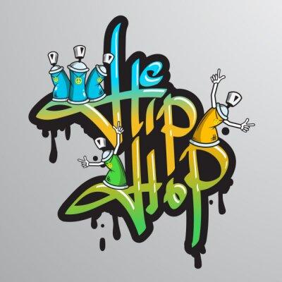 Väggdekor Graffiti ord tecken skrivs ut