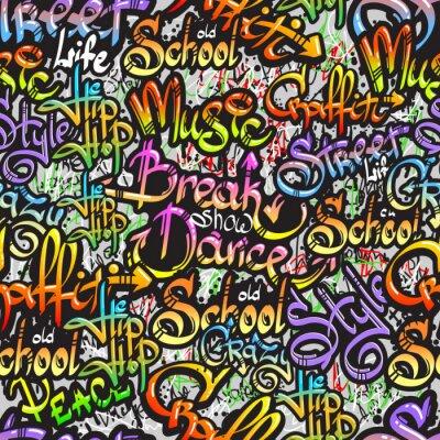 Väggdekor Graffiti ordet seamless