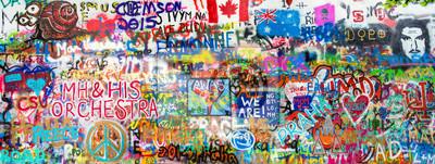 Väggdekor graffiti Panorama