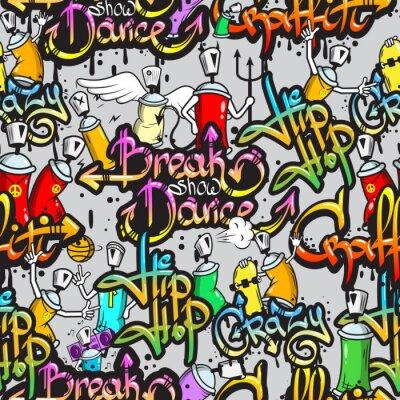 Väggdekor Graffiti tecken seamless